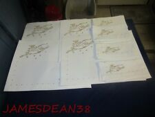 Reindeer Stars White Placemats Napkins 4 Each Christmas Xmas