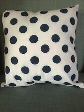 Vintage Navy Dot Cotton Lightweight Cushion Pillow Cover