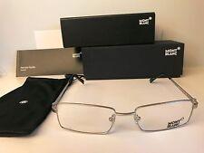 New MONT BLANC MB339 017, Palladium/Black, Rx Rimless Eyeglasses, 53-17-140 mm