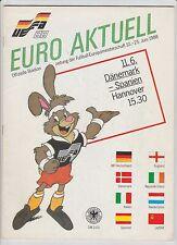 Orig.PRG    EM Deutschland 1988   DÄNEMARK - SPANIEN  !!  SEHR SELTEN
