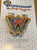WDW Magic Kingdom 45th Anniversary Hinged Passholder Exclusive Pin-Mickey Mouse