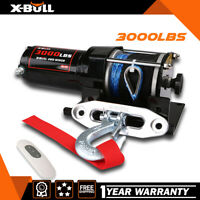 X-BULL 3000LBS 12V Electric Winch UTV Winch ATV Winch Synthetic Rope 4WD