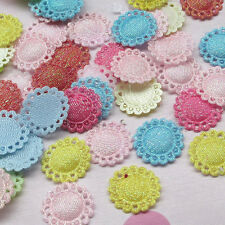 100pcs Colorful Cute Round Padded Flower/Appliques/baby/pet DIY craft mix