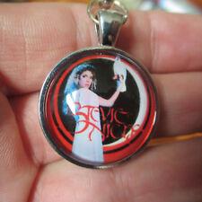 STEVIE NICKS 'Belladonna' Red Retro Cabochon Keychain; (Key Ring Chain) Handmade