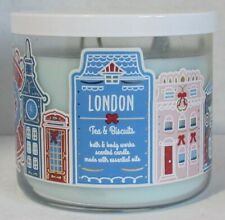 Bath & Body Works 3-wick Large Jar Scented Candle LONDON - TEA & BISCUITS