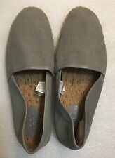 13 UGG Australia KAS ESPADRILLE Gum Sole Shearling Heel GRAY CANVAS Cork Insole