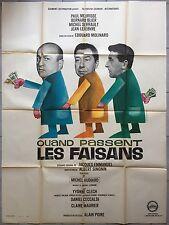 Affiche QUAND PASSENT LES FAISANS Audiard MEURISSE Bernard Blier 120x160cm