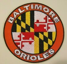 """Baltimore Orioles Maryland Flag Embroidered PATCH~4"""" Round~Iron Sew On"""