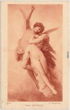Erotika: Amor und Psyche, Junge Frau und Engel - W. Bourguereau Erotik