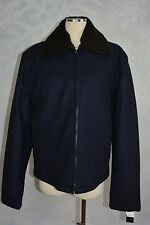 The Men's Store Bloomingdale's Navy Wool blend bomber Jacket XL(44)  NWT