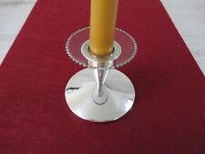 Tropfenfänger Bobeche Glas Perlrand silber für Kerzenständer NEU! Wachsstopper