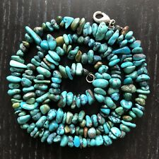 Vintage Navajo Native American Indian Turquoise Nugget Beaded Bead Art Necklace