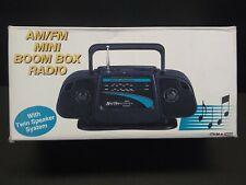 Vtg Mini Boombox FM/AM Portable Radio #9506 - NEW IN BOX                     A8