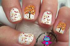 Autumn Fall Leaves #5 Nail Art Decals
