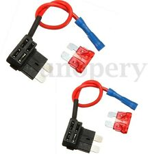 2 Pcs 12/24V Add Circuit Piggy Back Tap Standard Blade Fuse Boxes Holder ATO ATC