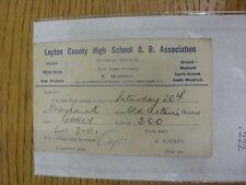 County High School 16/10/1934 Leyton viejo chicos Asociación: tarjeta de selección V Viejo