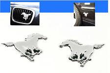✔✔✔ 2x AUFKLEBER Pferde Pferd Chrom Emblem AUTO Tuning selbstklebend