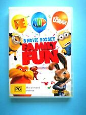 Family Fun + Despicable Me + The Lorax (DVD Region 2,4,5 PAL)