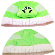 Super Mario Bros Green Yoshi Plush Costume Hat Cosplay Cap Hat US Shipped