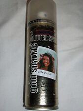 Halloween Gold Sparkle Goodmark Temporary Hair Color Spray Wash Costume Make-Up