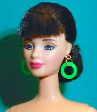 Barbie Dreamz NEON GREEN MOD HOOPS Hoop Earrings Doll Jewelry