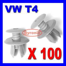 100x VW T4 T5 TRANSPORTER INTERIOR TRIM PANEL LINING CLIPS LIGHT GREY PLASTIC