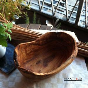 Bowl Fruit Bowl Olive Wood Natural Shape Oblong Large