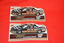 2 VINTAGE NASCAR RUSTY WALLACE #27 MILLER GENUINE DRAFT MOBIL 1 AC DELCO DECALS