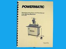 Powermatic Model LBM21 Line Boring Machine Instruction & Parts Manual *310