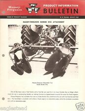 Farm Implement Brochure - Massey Ferguson - Border Disc Attachment - 1963 (Fb426