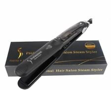 55W Professional Ceramic Hair Straightener Steam Styler Flat Iron For Dry&Wet