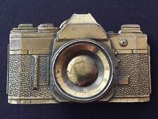 Canon AE-1 SLR Brass Belt Buckle 1979 Ltd Edition #H445 Made USA Photography