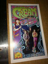 Cream Saville Theatre 1967 2nd Print Show Handbill signed Bob Masse