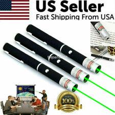 3 Packs 500Mile 532nm Laser Pointer Pen Green Blue Purple Red Light Visible Beam