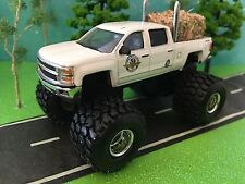 1/64 Custom G5 Lift Kit, Chevrolet Silverado, quad cab, Dual Pipes, Farm Hay