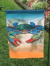 New listing Blue Crab Flag Garden Size Nautical Beach banner Ocean Maryland Coastal Summer