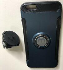 Mosafe Apple 6+ Phone Ring Magnetic Case w/ Baseus Phone Vent Holder