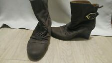 Earthies Chelsea Wedge Brown Boots 8.5
