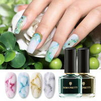 BORN PRETTY 6ml Watercolor Nail Polish Ink Blossom Nail Art Varnish Design