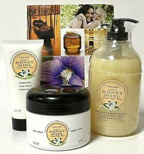 Perlier Honey Miel White Jasmine & Honey Bath & Shower Body Cream Set