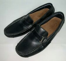 Clark's Mens Slip On Shoe Size 8.5 M Black Leather Loafers Driving Moccasins