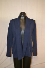 Kersh Women's Shawl Collar Cardigan Sweater-BLUE-SMALL-NWT