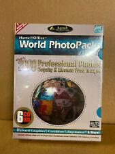 Pc Cd-Rom - (Nib Sealed) Home Office - World Photo Pack - 6 Cd's - Aztech