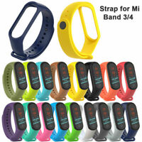 For Xiaomi Mi Band 3/4 Adjustable Bangle Soft Silicone Strap Wristband Bracelet