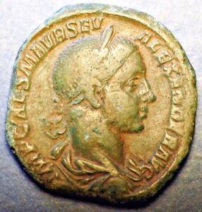 222-235 AD Roman Imperatore Severus Alexander Sestertius.  C*72