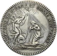 O3986 Jeton Fabrique Notre-Dame Bonne Nouvelle 1735 Argent Silver SPL