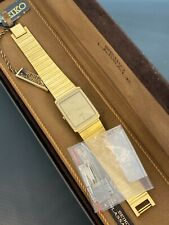 VINTAGE SEIKO LASSALLE BATTERY MENS WATCH WITH BOX & PAPERS