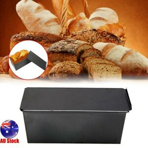 250-1000g Pullman Loaf Pan w/ Lid Non-Stick Bakeware Bread Toast Mold with Lid