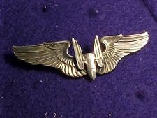 WWII USAAF STERLING GUNNER WINGS - ENGRAVED - 97TH BOMB GP - 1ST 8TH AF MISSION