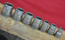 Lot of 7 Vintage S-K Tools Knurled Base 1/2